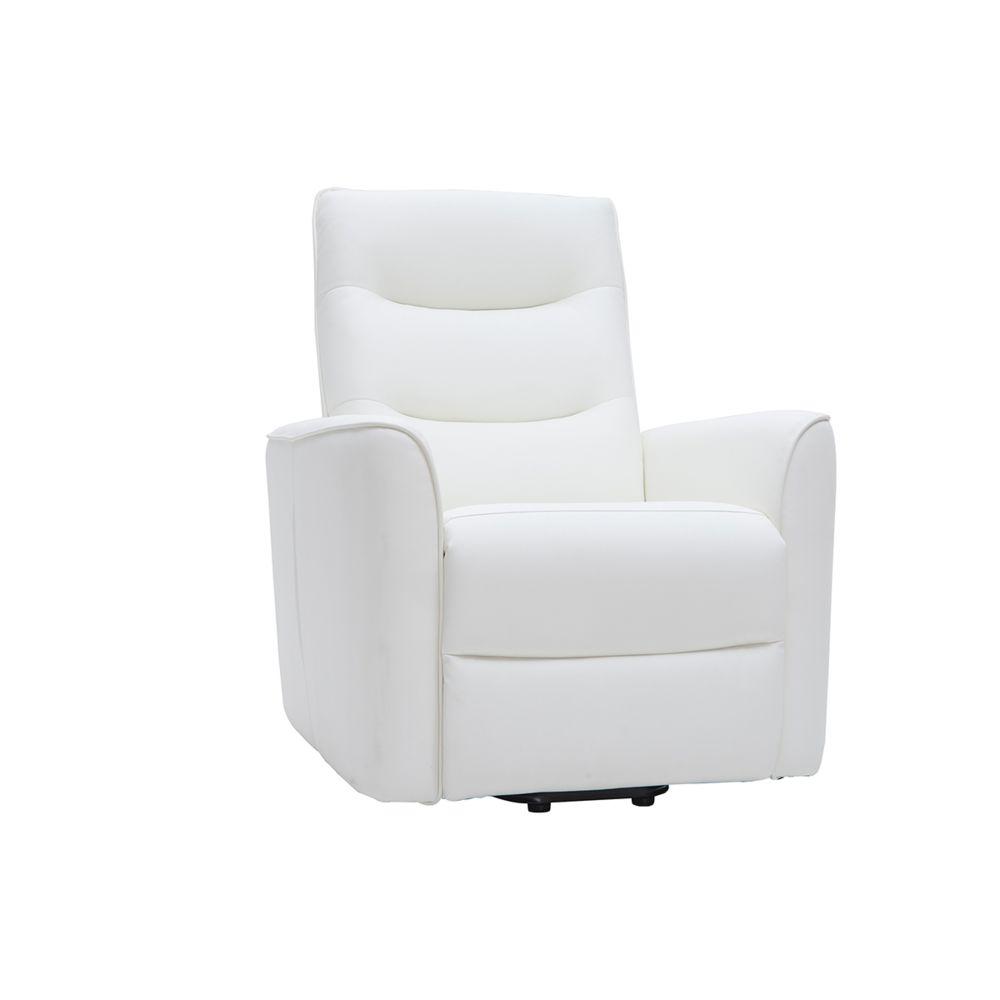 Miliboo Fauteuil relax releveur électrique blanc THESA
