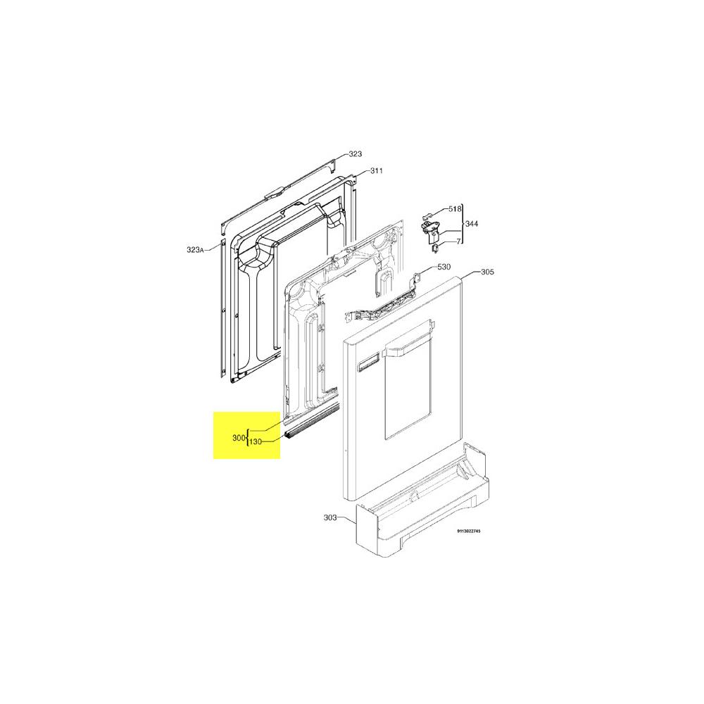 Electrolux CHASSIS PORTE COMPLET VISION POUR LAVE LINGE ELECTROLUX - 5028420400