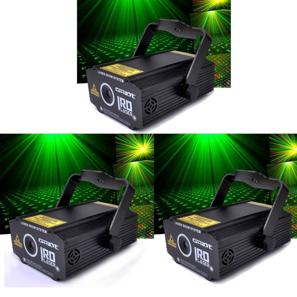 Ghost Pack LASERS GHOST Rouge/Vert ultra léger effet strobe