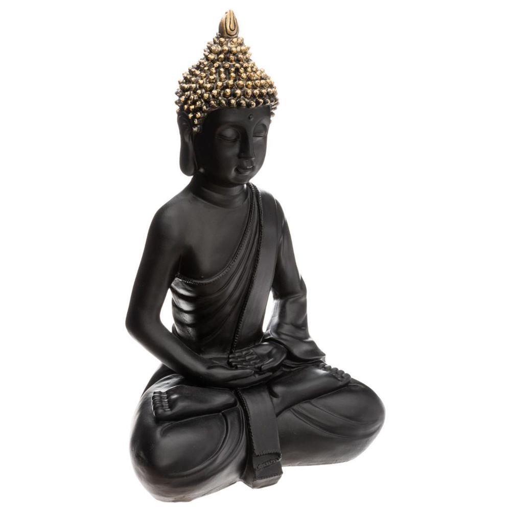 Atmosphera, Createur D'Interie Bouddha Assis Noir / Or H. 39,5 cm