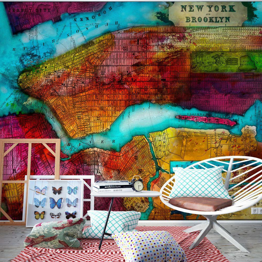 Bimago Papier peint | Northern portion of new york city | 200x140 | Ville et Architecture | New York | map |