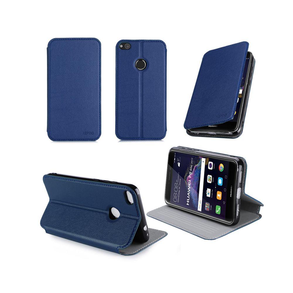Xeptio - Etui Huawei P8 Lite 2017 4G bleu - Housse coque de protection