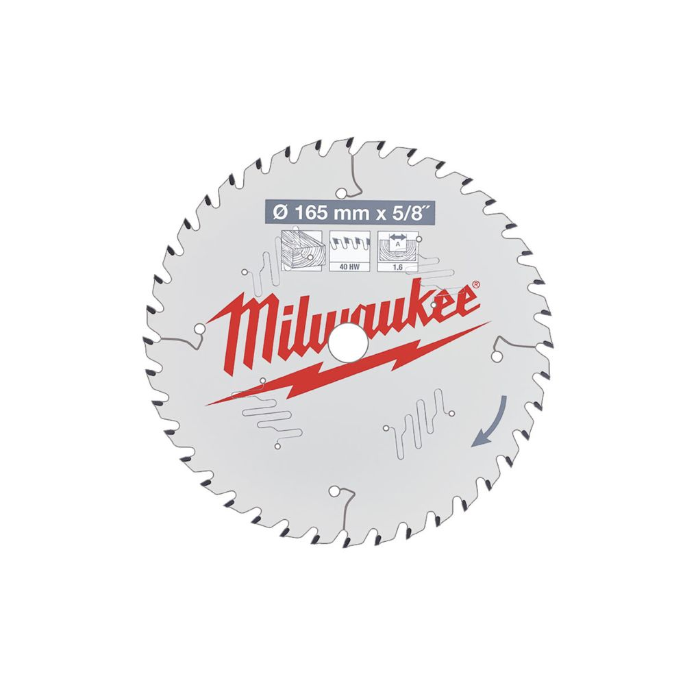 Milwaukee Lame scie circulaire MILWAUKEE 40 dents 1.6x165mm 4932471312