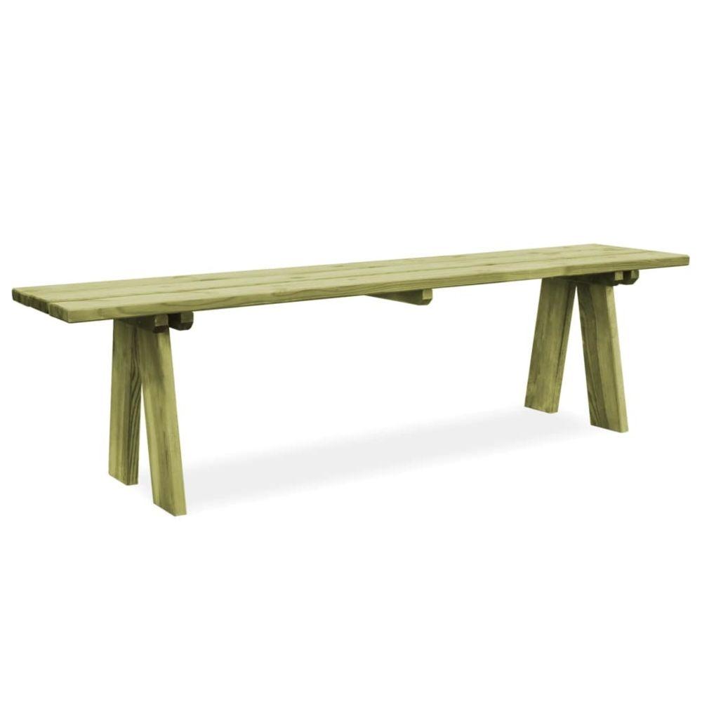 Vidaxl Banc de jardin Bois de pin imprégné FSC 170 x 38 x 45 cm | Vert - Sièges d'extérieur - Bancs d'extérieur | Vert | Vert