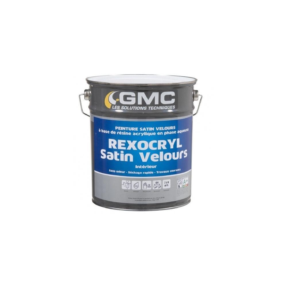 Gmc REXOCRYL BLANC SATIN 4L - Peinture satinée acrylique idéale fonds neufs- GMC
