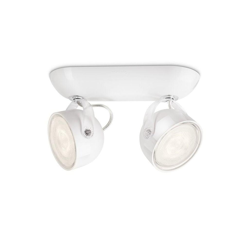 Philips Barre double spots LED orientables longueur 20.3cm Dyna - Blanc