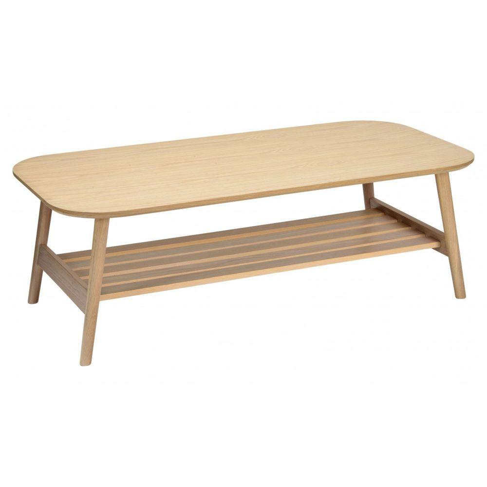 Mob-In Table basse scandinave en Chêne - Double plateau 120 x 40 cm - OTELO