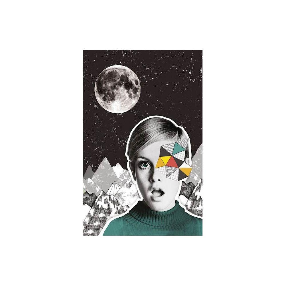 Homemania HOMEMANIA Tableau Limited Edition - Lune - pour Séjour, Chambre - Multicolore en Coton, Bois, 45 x 2 x 70 cm