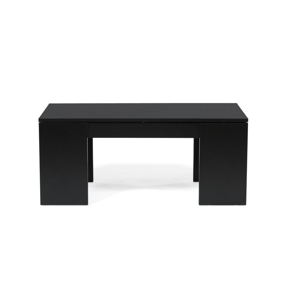 Weber Industries Table basse relevable bois noir NEWTON