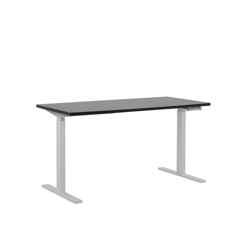 Beliani Beliani Table de bureau 160 x 72 cm noir et blanc hauteur réglable manuellement DESTIN II - noir