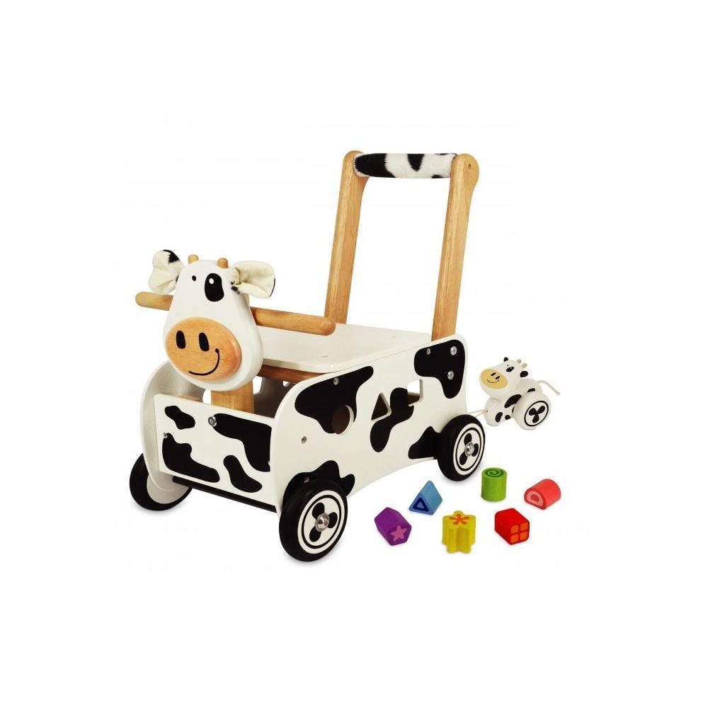 I M Toy Pousseur porteur en bois Clara la vache IM87131