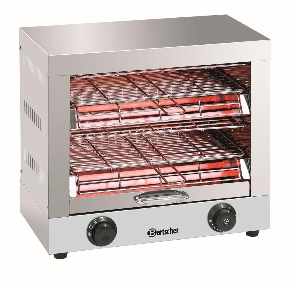 Bartscher Appareil a toaster/gratiner, double
