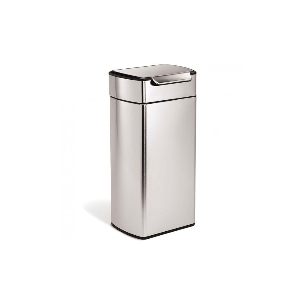 Simplehuman simplehuman - poubelle rectangulaire à touch-bar 30l inox - cw2015