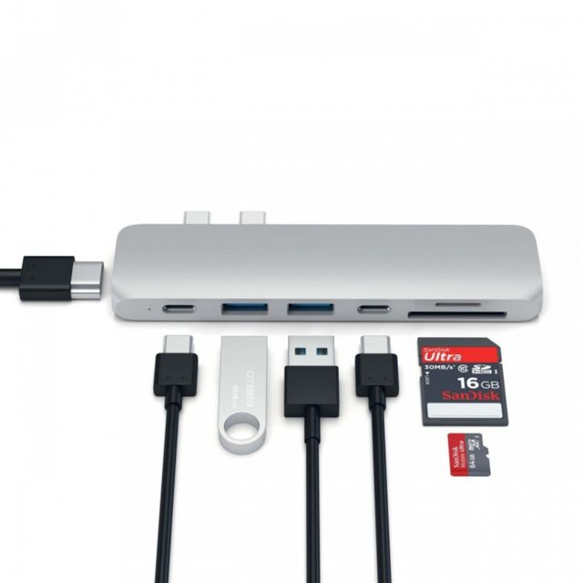 Alpexe - Alpexe MacBook Pro Type-C to USB 3.0 Adaptateur 7 en 1 Hub Thunderbolt 3 To 4K HDMI Carte SD - Hub