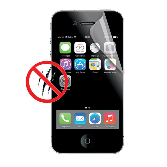 Mobilis -Pack de 2 Screen Protector Anti-Fingerprint iPhone SE - Transparent Mobilis  - Protection écran smartphone