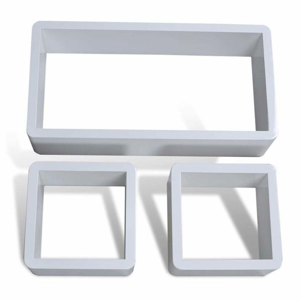 Helloshop26 Étagère armoire meuble design murales sous forme de cube 6 pcs blanc 2702237/2