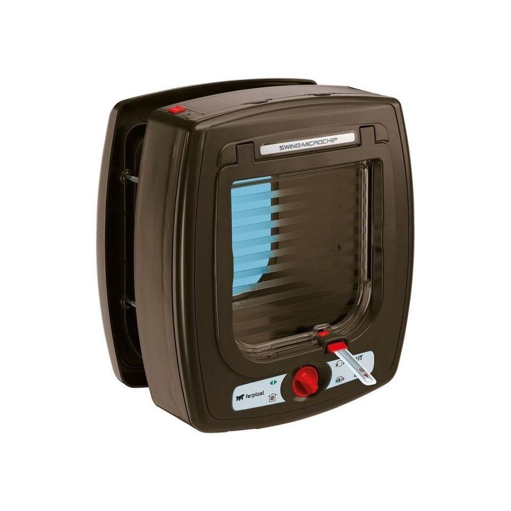Ferplast SWING Microchip Chatiere en plastique marron 16,2 x 22,5 x 25,2cm - 72090012