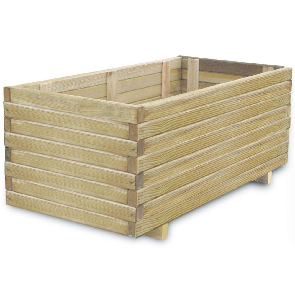 Vidaxl Jardinière en bois rectangulaire 100 x 50 x 40 cm | Beige
