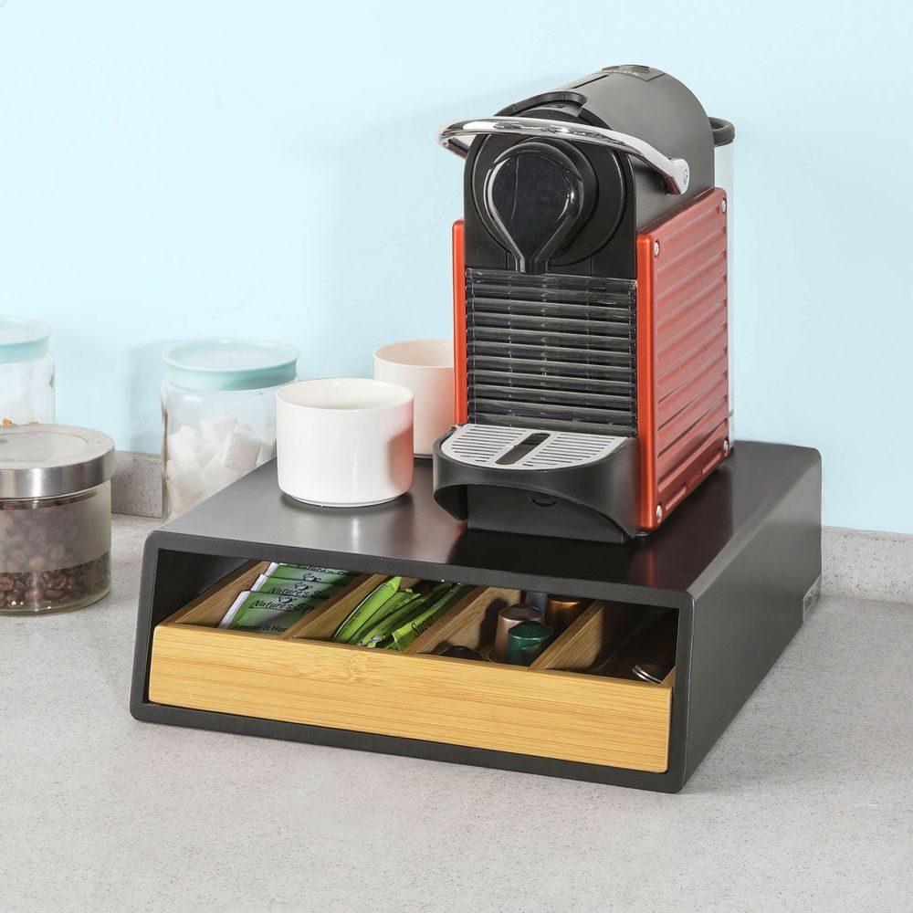 Sobuy SoBuy® FRG280-SCH Coffee Pod Capsule Teabags Drawer Box Holder Cabinet