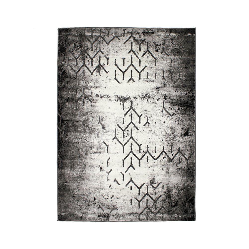 Mon Beau Tapis SMART GRAPHIQUE - Tapis à poils courts à imprimés graphiques gris 133x190