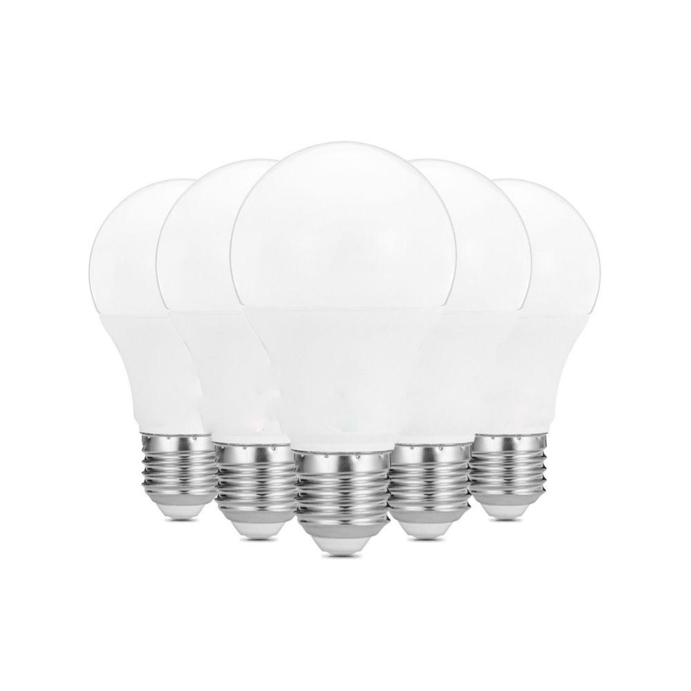 Wewoo Ampoule LED 5 PCS 9W E26 / E27 22LEDs 2835SMD Maison Éclairage LED, CA 100-240V (Blanc Chaud)