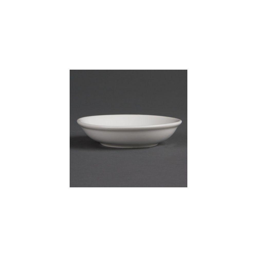 Olympia Coupelles à sauce soja blanches 100 mm Olympia - Lot de 12 - Porcelaine
