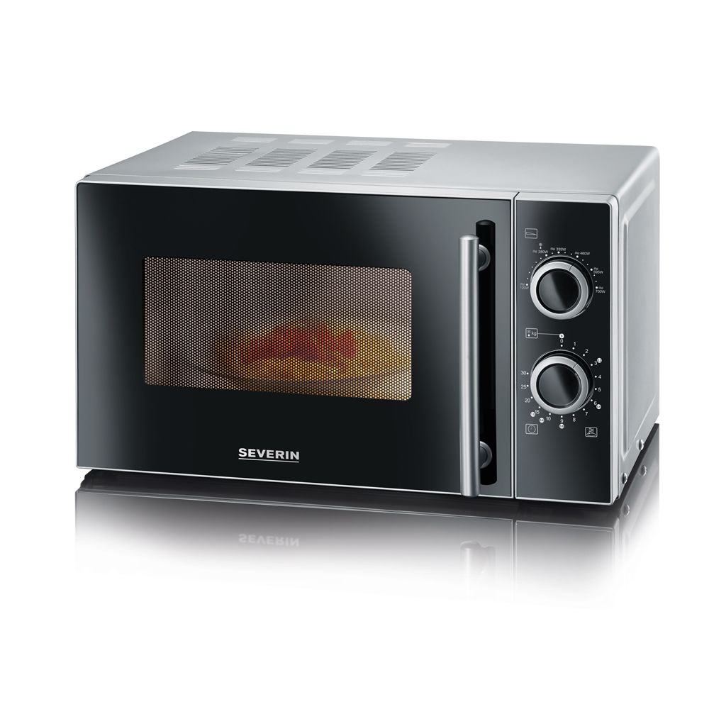 Severin severin - micro-ondes 20l 700w noir argent - mw7862