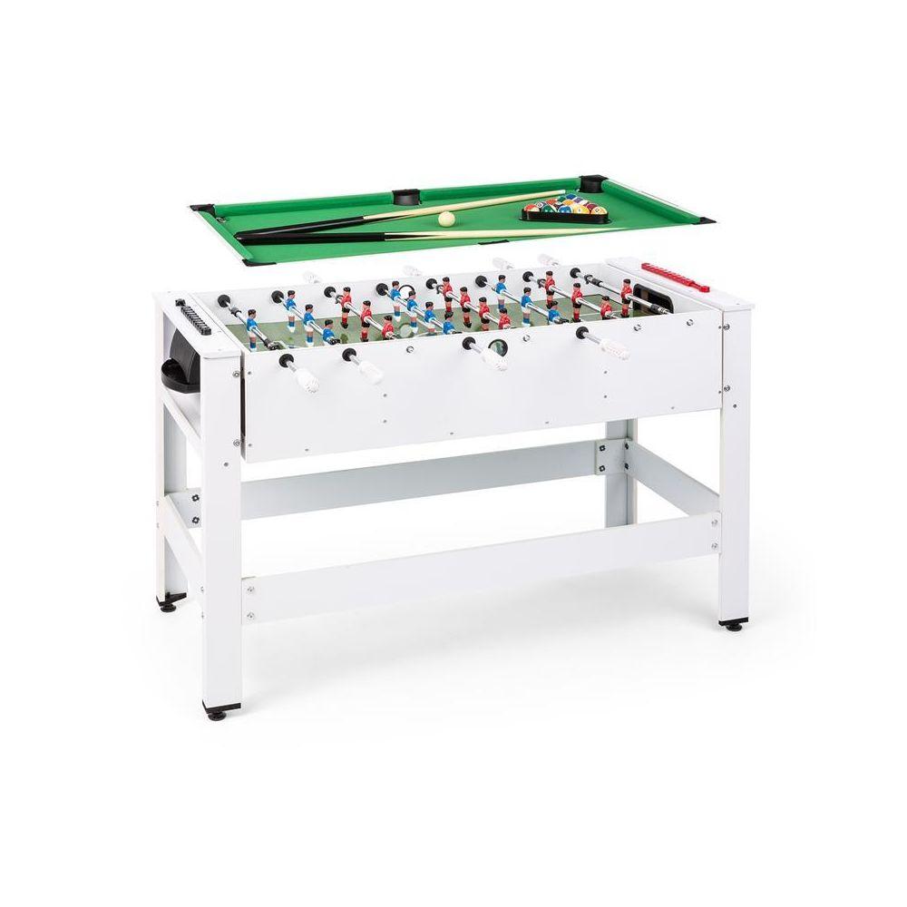 Klarfit - Klarfit Spin table de jeux 7-en-7 billard Kicker, rotatif à 780°  , pièce de jeu, blanche Klarfit