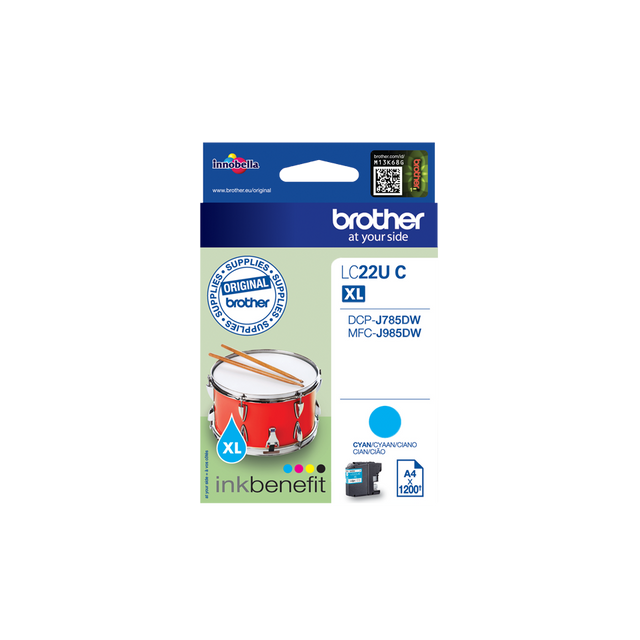 Brother - LC22UC - Cartouche d'encre Cyan - Brother