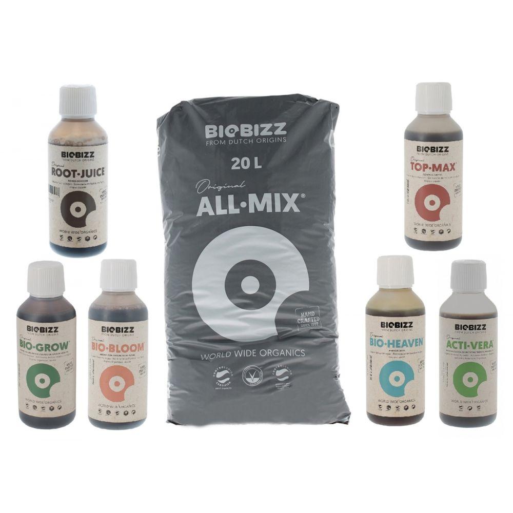 Biobizz Pack All.Mix 20 litres Biobizz + engrais et booster