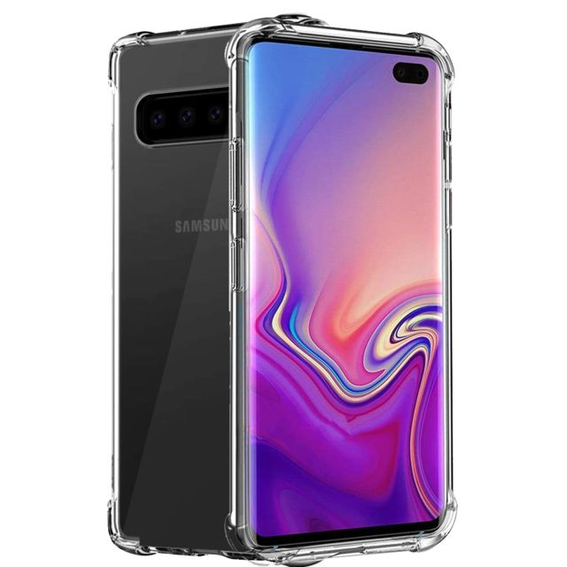 Xeptio - Samsung Galaxy S10+ (S10 Plus) coque gel tpu transparent anti choc bords renforcés - Xeptio