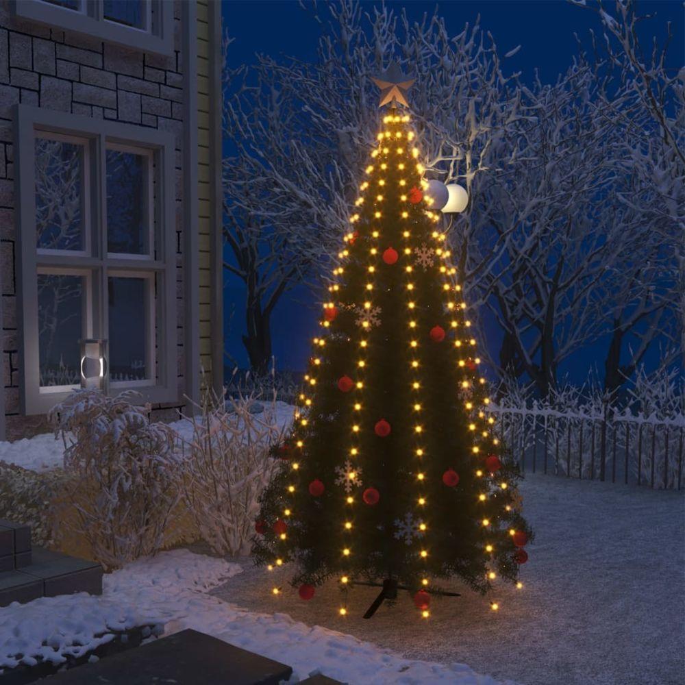 Vidaxl vidaXL Guirlande lumineuse filet d'arbre de Noël 250 LED IP44 250 cm