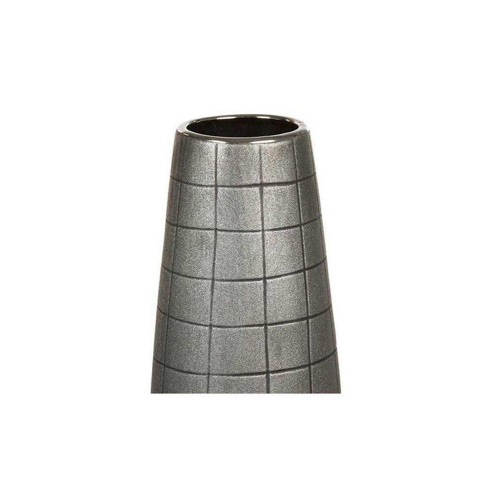 Homania - Vase de sol Céramique Argent (9 x 9 x 9 cm) by Homania