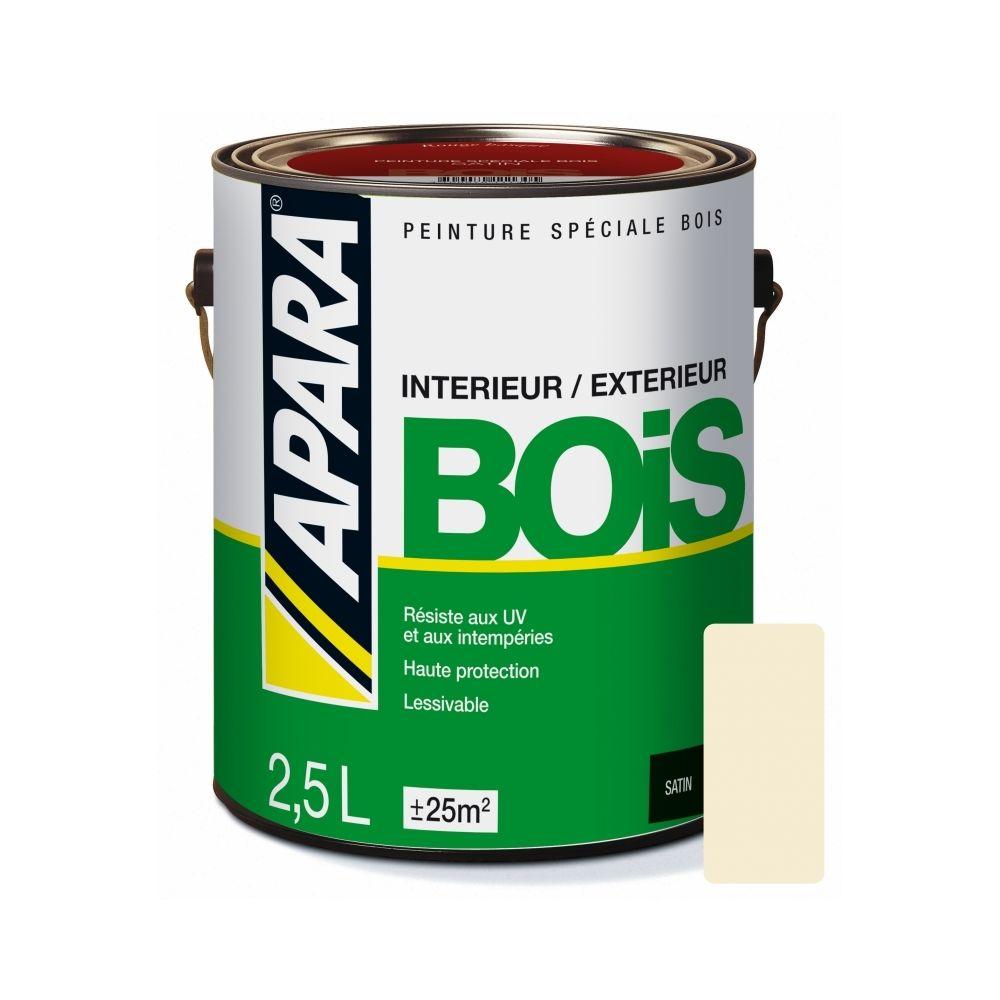 Apara Peinture BOIS SATIN-2.5 litres-Blanc cassé (RAL 1015)