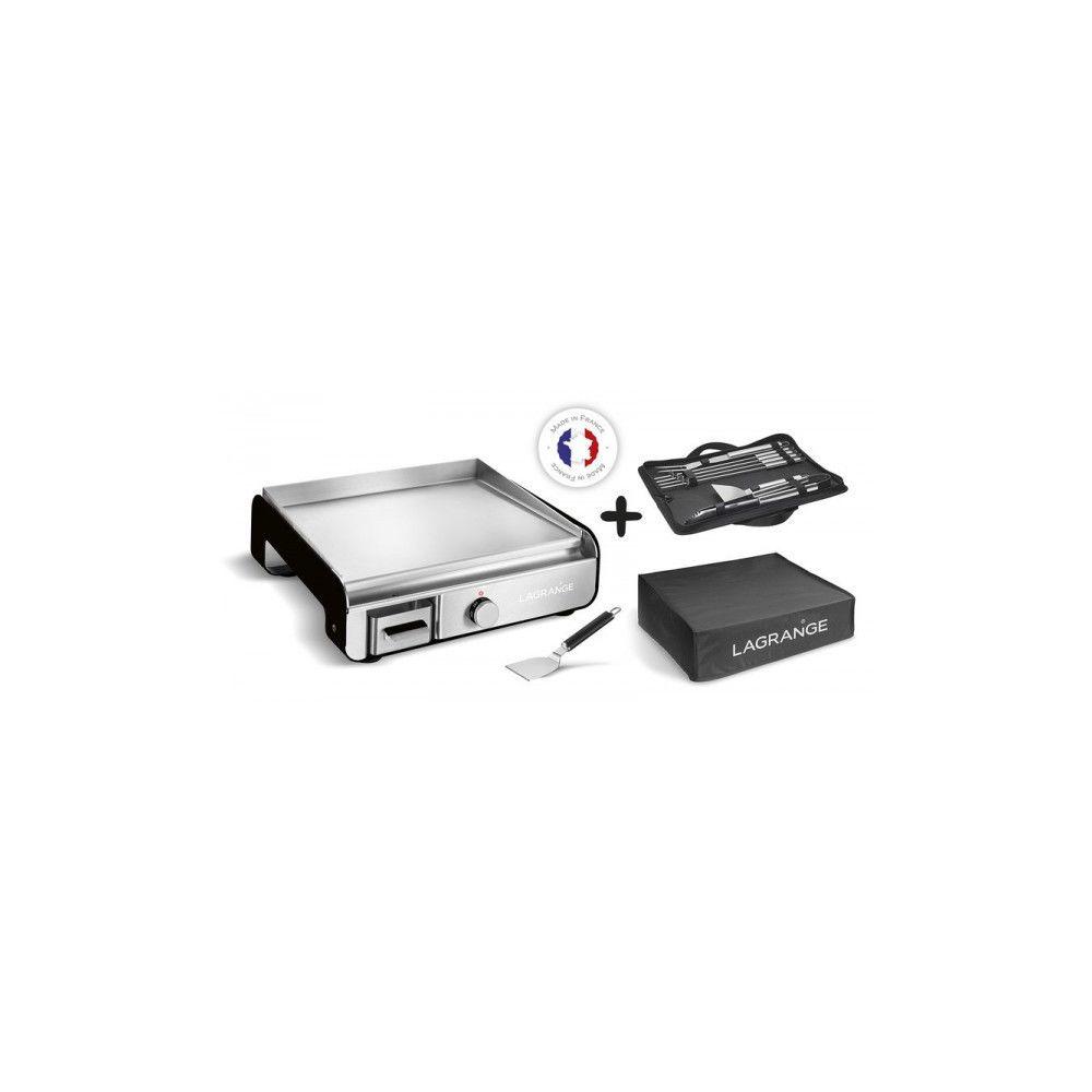 Lagrange LAGRANGE Plancha Pro Electrique 2300W noir + Housse + Accessoires 219052