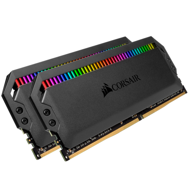 Corsair - DOMINATOR PLATINUM RGB BLACK 32 Go (2x16 Go) 3200Mhz CL16 - RAM PC Fixe