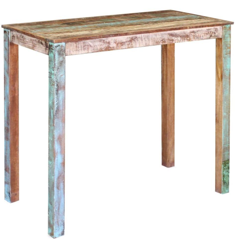 vidaXL Table de Bar avec Armoire Table Haute Table de Bistrot Mobilier de Pub Meuble de Cuisine Table de Salle /à Manger Table /à D/îner Int/érieur Maison Blanc