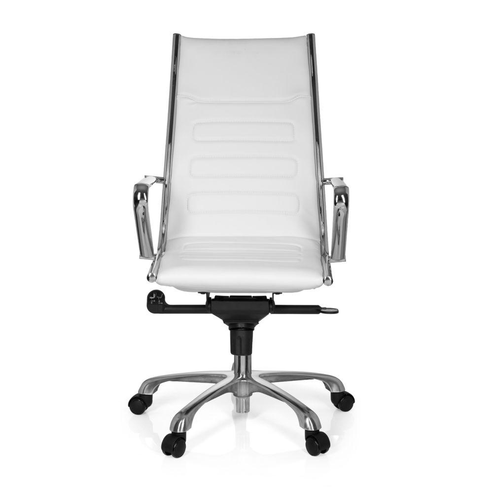 Hjh Office Fauteuil de direction PARIBA III simili-cuir blanc hjh OFFICE