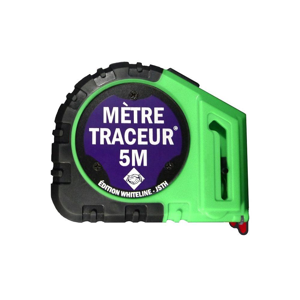 J.S. Trading House Mètre traçeur 5m + 10 mines édition whiteline JSTH - Blanc - MT5-B