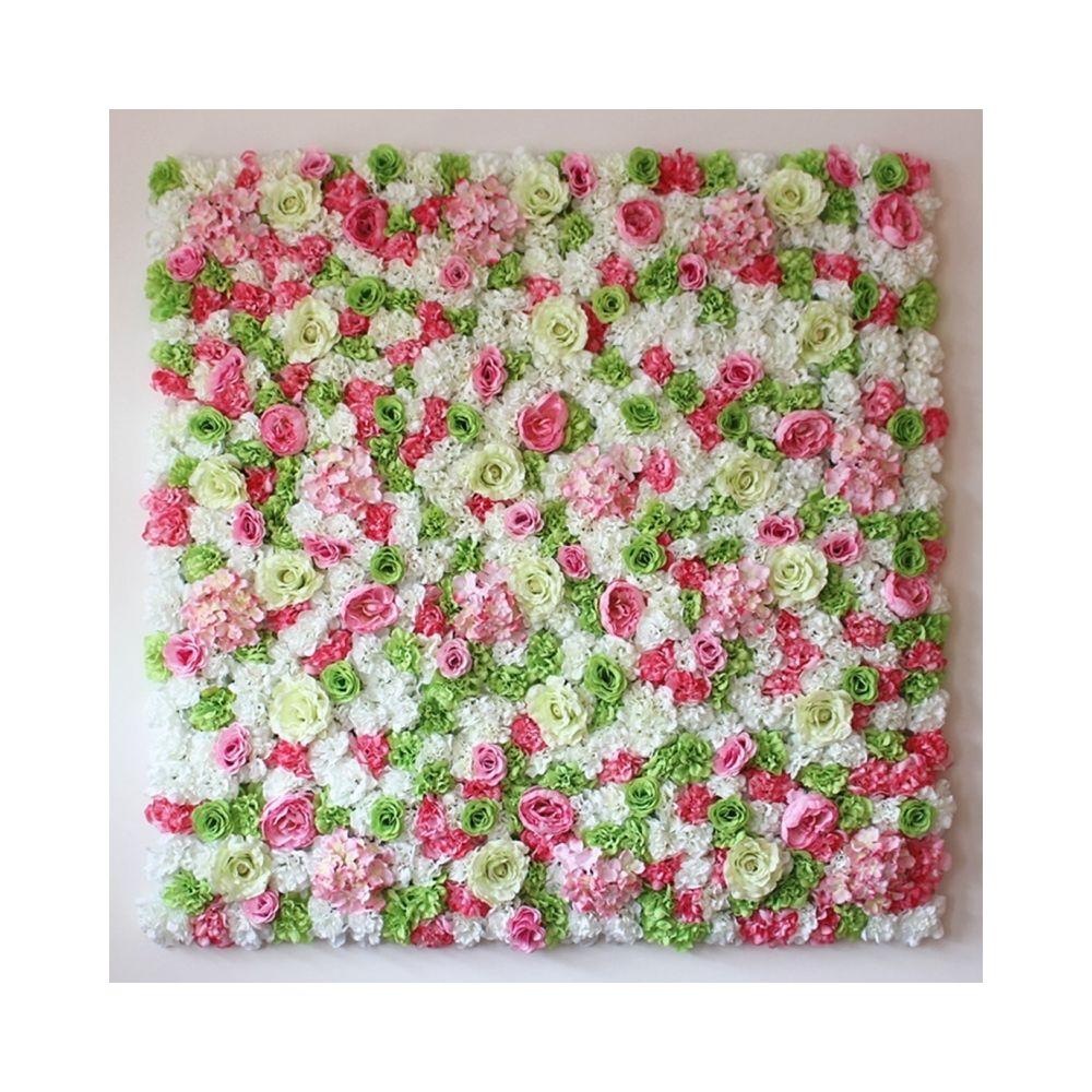 Wewoo Décoration Jardin blanc et rose Vert floraison pivoine hortensia artificiel cryptage fleur bricolage mariage mur photo f