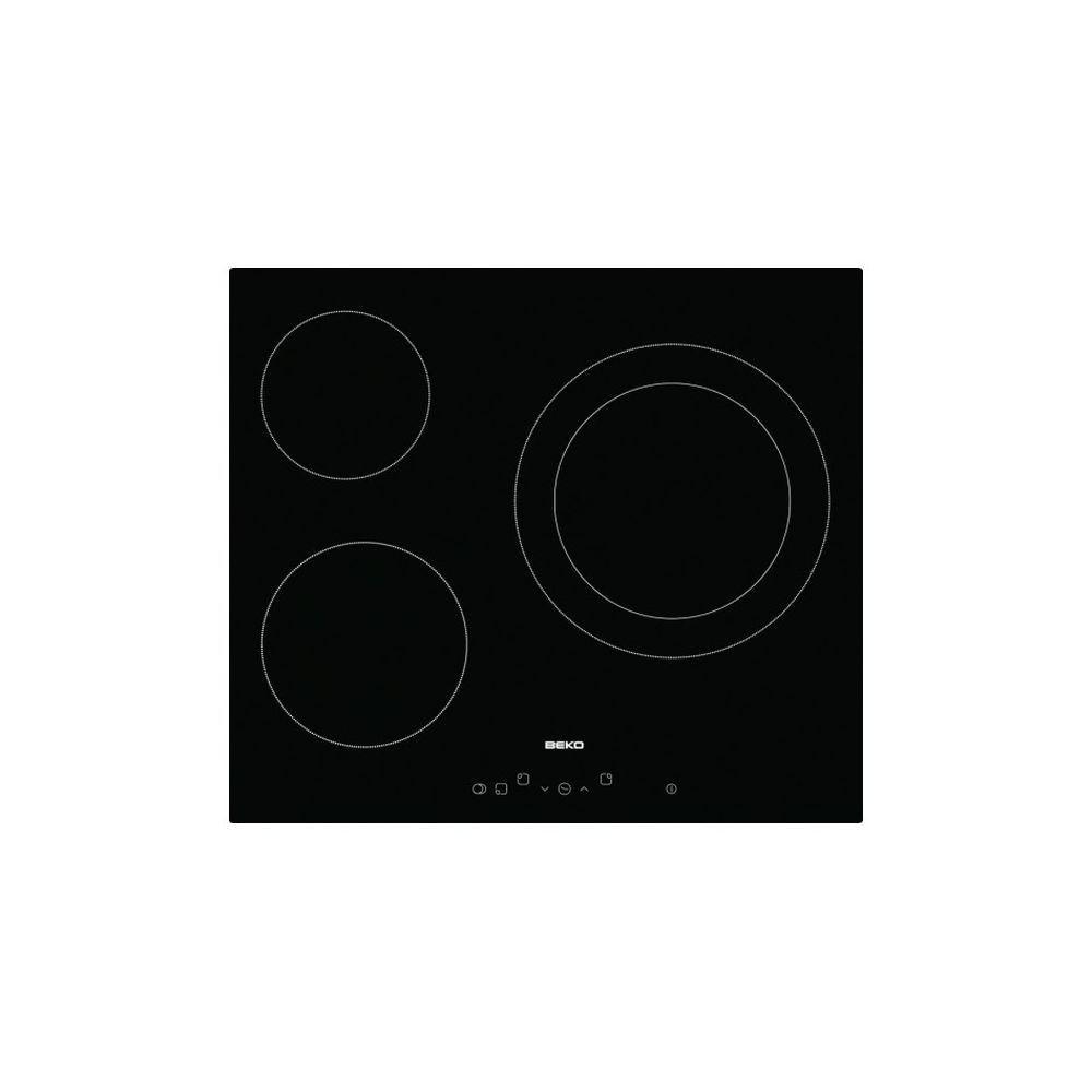 Beko Plaques vitro-céramiques BEKO HIC 63401 T 60 cm Noir (3 zones de cuisson)