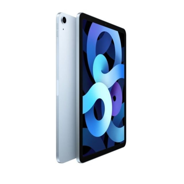 "Apple - iPad Air (Gen 4) - 10,9"""" - Wi-Fi + Cellular - 256 Go - Bleu ciel - Tablette tactile"