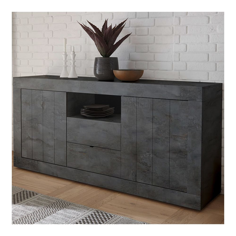 Kasalinea Buffet 180 cm gris anthracite moderne MABEL