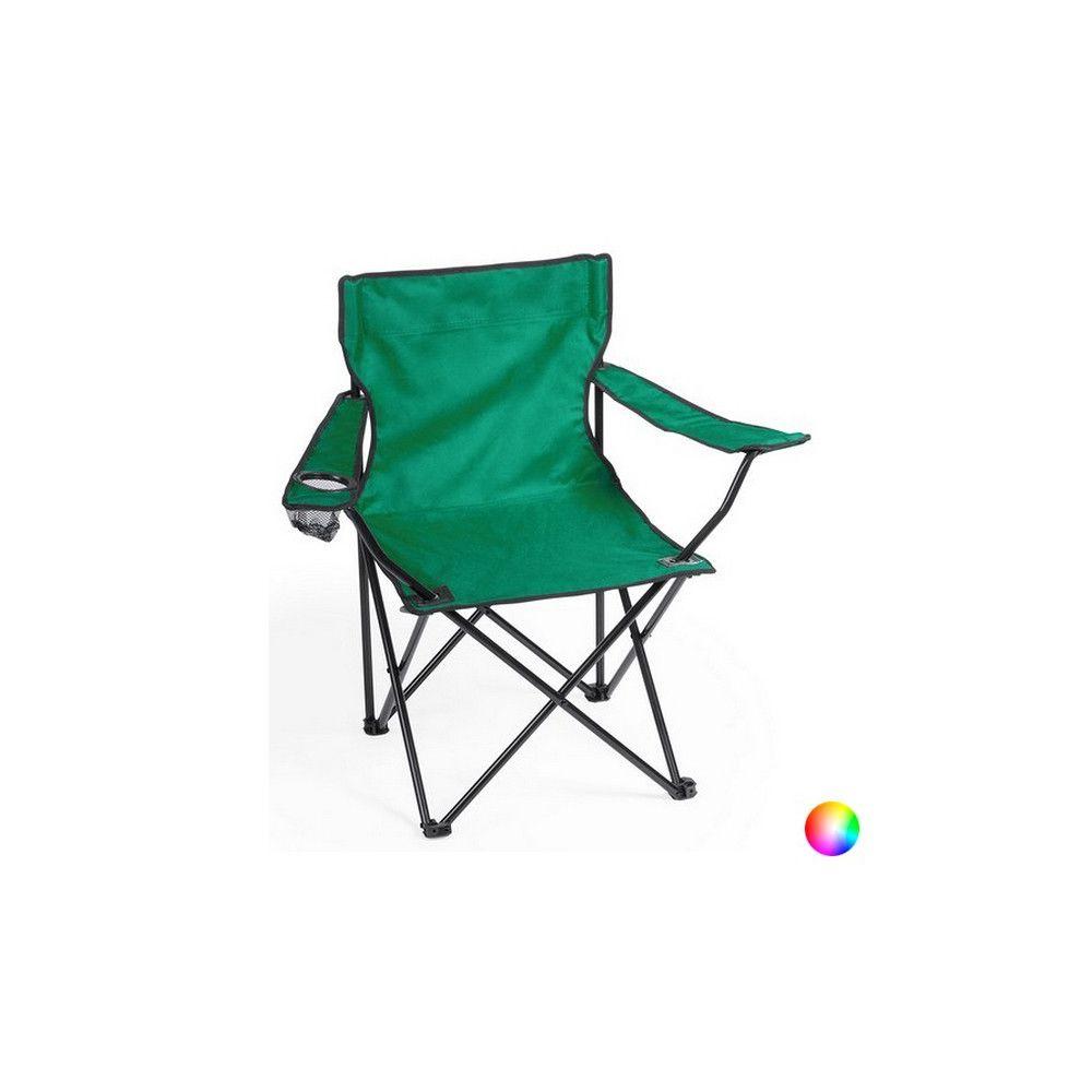 Totalcadeau Chaise à accoudoirs pliable avec étui - Chaise de voyage Couleur - Bleu