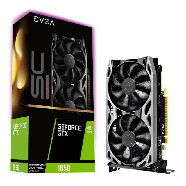 Evga - Geforce GTX 1650 - SC ULTRA - 4 Go - Composants