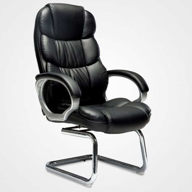 Wewoo - TO-615-Z Office Bow Rotating Computer Chair Home Armchair Desk Chair (Black) - Chaises