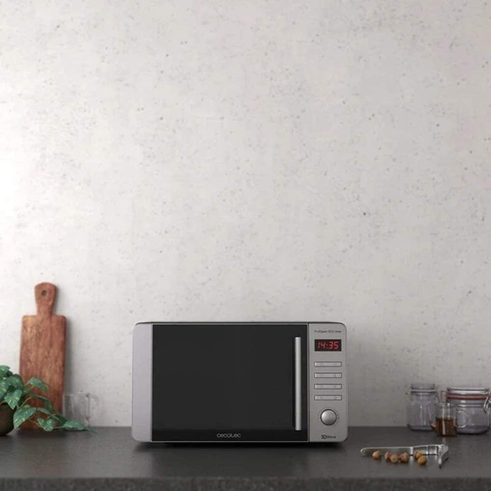 Cecotec Micro-ondes de 20L avec 8 programmes 700W noir gris