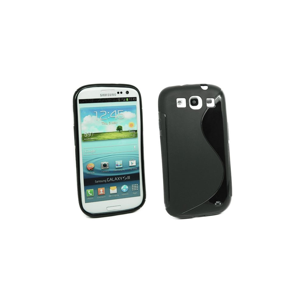 Mecer - Coque Samsung Galaxy S3 - Silicone Noir