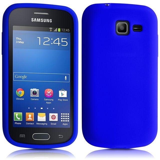 Housse Etui Coque en Silicone Bleu pour Samsung Galaxy Trend Lite Film de(...)