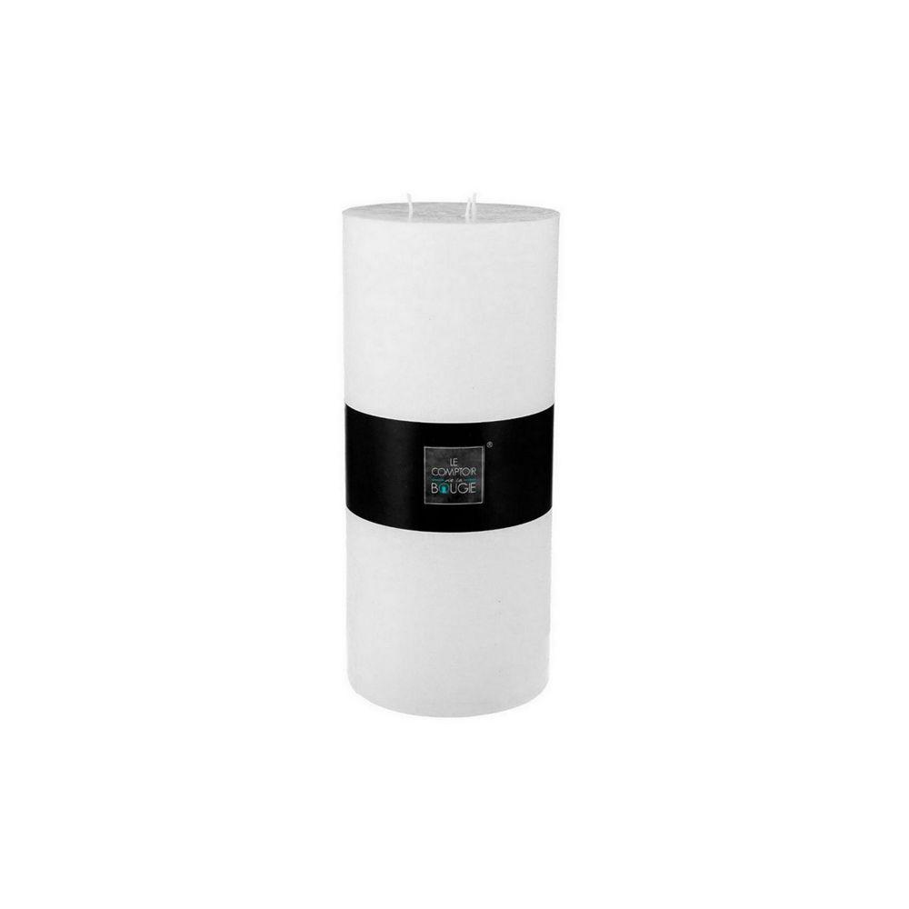 Atmosphera, Createur D'Interie Bougie cylindrique Ø 14 x H 32 cm Esprit Récup - blanc - Atmosphera